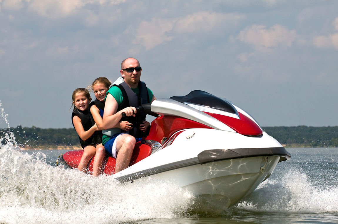 Riding on personal water craft