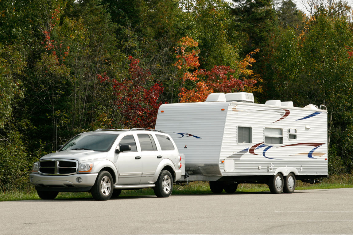 SUV and Tow Trailer