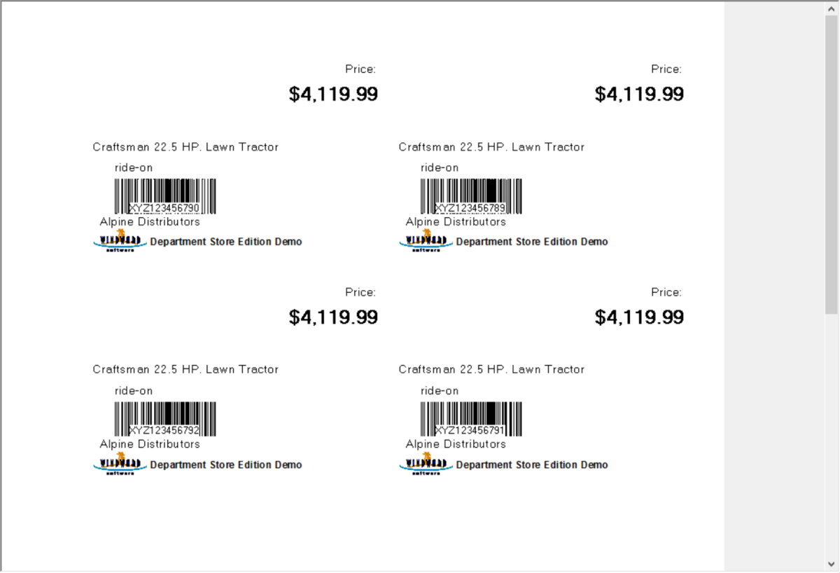 Windward Software's inventory management supports barcodes at point-of-sale, receiving and when counting stock levels