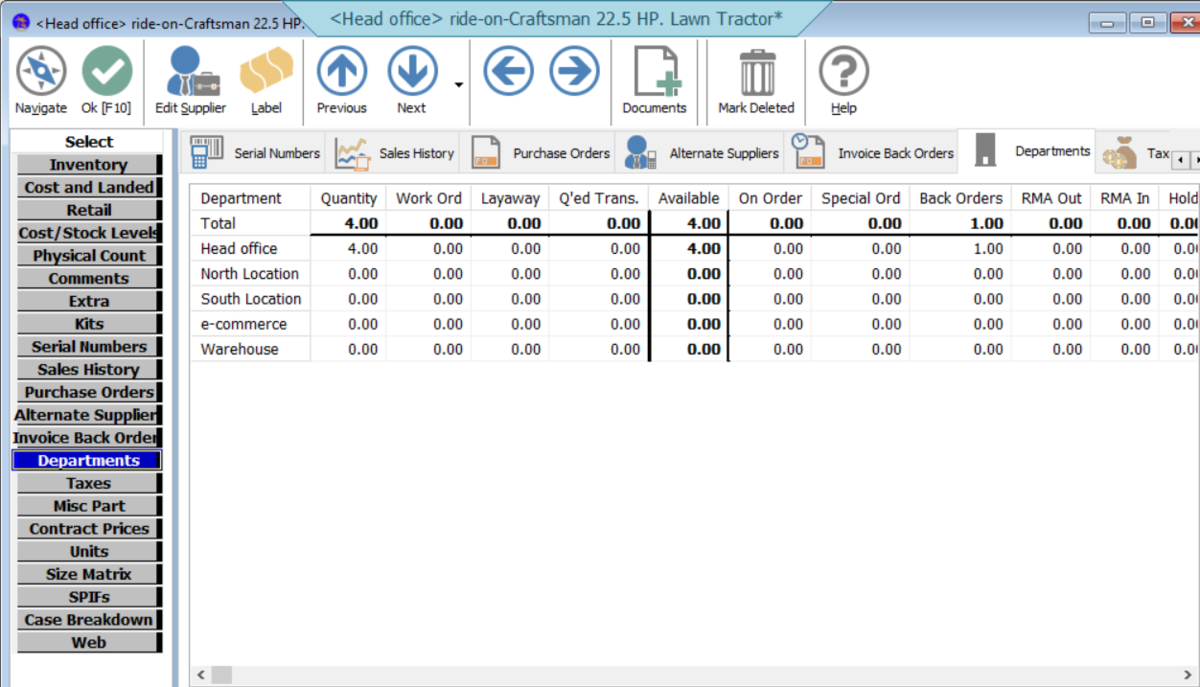 See inventory across multiple locations in one view