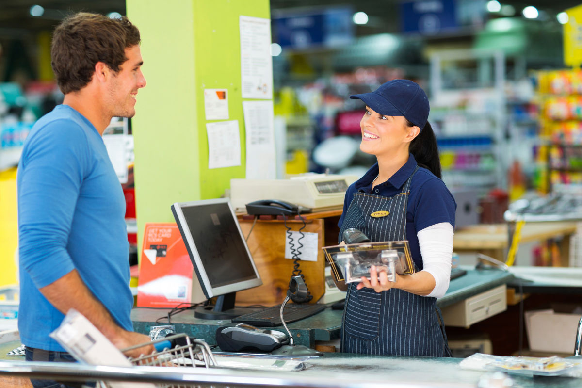 Bar code scanning makes POS duties a snap, while updating inventory numbers